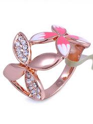 """Кольцо """"Два цветка"""""""
