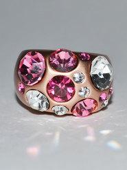 """Кольцо стразы """"Розовые звёзды"""""""