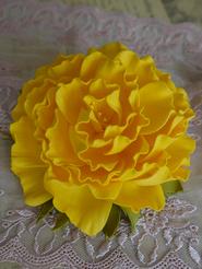"Брошь ""Желтая роза"""