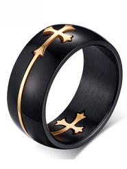 Кольцо с крестиком №3