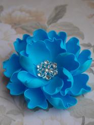 """Заколка """"Синий цветок"""""""