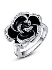 "Кольцо ""Черная роза""№3"