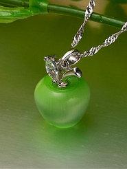 """Колье """"Зеленое яблоко"""""""